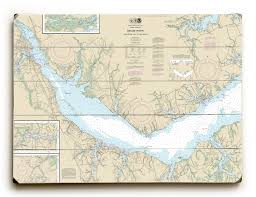 Neuse River Depth Chart Nc Neuse River Upper Bay River Nc Nautical Chart Sign