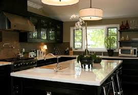 black kitchen cabinets with white marble countertops.  Kitchen Black Kitchen Cabinets With White Marble Countertops In With Marble C