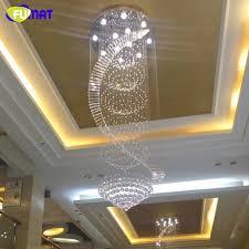 modern spiral staircase elegant modern chandelier led k9 crystal lamps long pendant chandelier