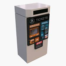 Ticket Vending Machine Extraordinary Ticket Vending Machine 48d Model