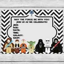 Star Wars Birthday Invitations Printable Printable Year