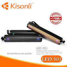 Loa Kisonli Bluetooth LED 901 Âm Thanh Sống Động - Hàng Chính Hãng Bảo Hành  12 Tháng - 9959224547 | Micro kèm loa bluetooth