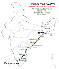 Indian Railway Route Chart Howrah Ernakulam Antyodaya Express Wikipedia