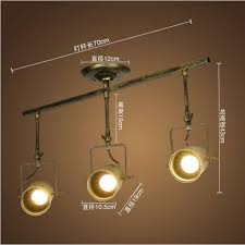 vintage track lighting. Aliexpress.com : Buy Vintage Track Lighting Lights Dining Room Ceiling Iron  Slide Rail LED E27 From Reliable Suppliers On N