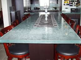 glass table top for dining room design concept