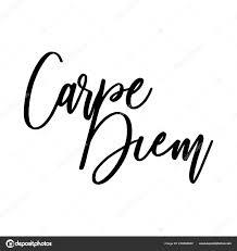 Carpe Diem Krásná Zpráva Lze Použít Pro Web Design Tričko Stock