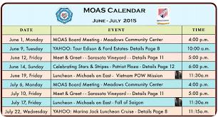 Calendar June July 2015 Military Officers Association Of America Sarasota Chapter June 2015