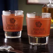leather wrapped whiskey glasses