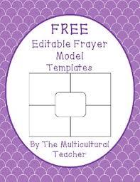 Frayer Model Template Editable Freebie Frayer Model Template