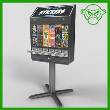 Sticker Vending Machines Adorable Sticker Vending Machine 48d Model