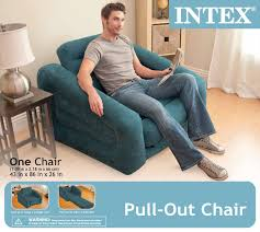 intex inflatable lounge chair. Intex Pull-out Chair Inflatable Bed, 42\u0027 X 87\u0027 26\u0027 Lounge