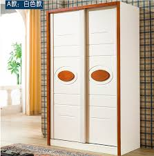 308 two meters of solid wood sliding door wardrobe closet korean utility furniture white furniture foshan home