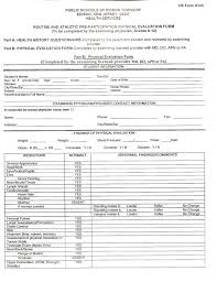 Physical Assessment Form Impressive Physical Form Resume Template Sample School Ct Medical Release P