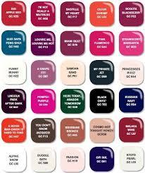 Opi Color Chart Numbers Bedowntowndaytona Com