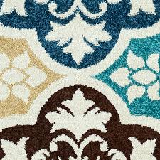 delectably yours decor summer tile aqua indoor outdoor rug 5x8 or 8x10