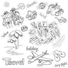 女の子 観光客 海岸 手 グラフィックアート 手書き 楽しみ 夏の画像