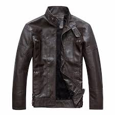 men s motorcycle leather jacket classic gentleman style zip leather jacket for men male cool leather outerwear leather jacket mens quilted jackets from