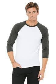 Wholesale Baseball Tees 3 Quarter Sleeve Shirts Custom