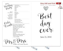 Microsoft Wedding Program Templates Editable Fan Template Free Wedding Program Templates For Microsoft