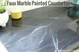 painting laminate countertops to look like marble tutorial on faux marble painted