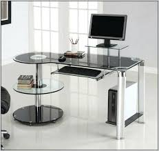 glass corner desk glass corner computer desks for home glass corner desk