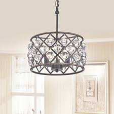 azha small 3 light crystal drum pendant chandelier oil rubbed bronze within 3 light metal and