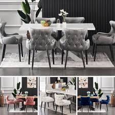 luxury white dining table set velvet