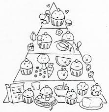 Small Picture Printable Food Pyramid Coloring Pages With Sheet And Page itgodme