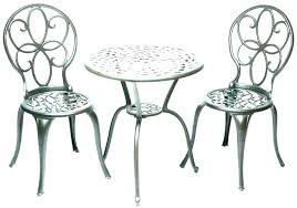 black metal bistro table and chairs patio set outdoor cast iron aluminium chair setting sets for wrought kitchen excellent