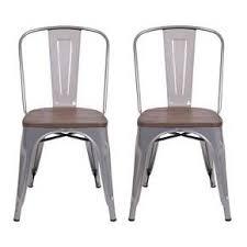carlisle high back metal dining chair set of 2 target in natural metal