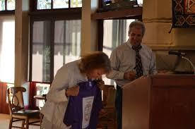 supervisor merita callaway decides a t shirt is better than a plaque