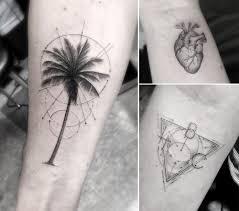 Elegant Fine Line Geometric Tattoos By Dr Woo Colossal