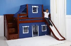 kids bunk bed with slide. Wonderful Kids Bunkbedwithslidechestnut With Kids Bunk Bed Slide E