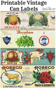 Vintage Food Labels Tin Can Vases Knickoftime Net Vintage Labels And Vintage Label
