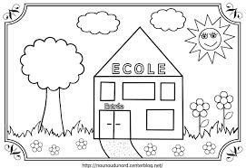 Cole 6 B Timents Et Architecture Coloriages Imprimer