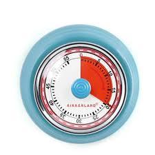 vintage magnetic kitchen timer blue