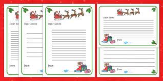 Santa List Template Letter To Santa Template Ks1 Resource