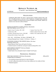 4 5 How To Write A Resume For A Student Wear2014 Com