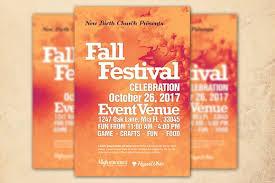 celebration flyer template. Fall Festival Church Flyer Template Flyer Templates Creative Market