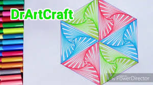 How To Draw Single Pattern Design How To Draw Geometric Drawing Art Design Drawing For Beginners 3d Art Single Pattern Design