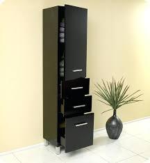 tall black storage cabinet. Tall Black Cabinet Excellent Awesome Espresso Bathroom Linen W 3 Inside Storage . C