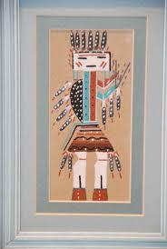 native american sand painting by rainbow yei sam indian sandpainting