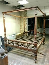 antique wooden bed frames canopy beds old wood frame queen king size 6 0 uk