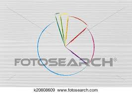 Business Stats Pie Chart Graph Fill With Your Text Stock