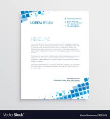 3d Letterhead Design Abstract Blue Creative Letterhead Design