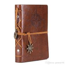 2019 leather writing journal notebook 5 inches retro spiral bound notebook refillable diary sketchbook for girls and boys deep brown from pioneer160