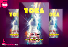 Free Download Yoga Flyer Template Psd Freedownloadpsd Com