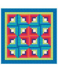 go log cabin quilt pattern accuquilt