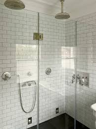 subway tile shower surround