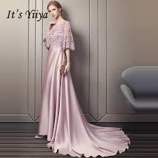 2019 <b>It'S Yiiya Evening Dress</b> 2019 Luxury Beading Flowers Satin ...